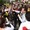 Protestas en Lima contra disolución del Congreso