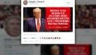 Trump publica mensaje en español en su cuenta de Twitter