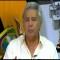 Presidente de Ecuador promete restablecer el orden