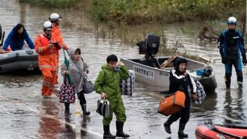 Comienzan las tareas de rescate tras el paso de Hagibis
