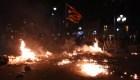Tercera noche de violencia en Cataluña