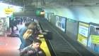 Empujan a mujer a las vías del metro de Buenos Aires