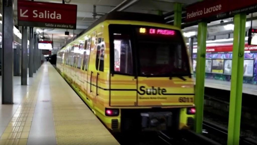 Paro y reclamos por el asbesto en el subte de Buenos Aires