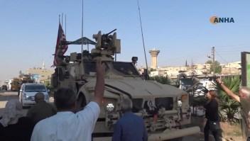 Militares estadounidenses agredidos al retirarse de Siria