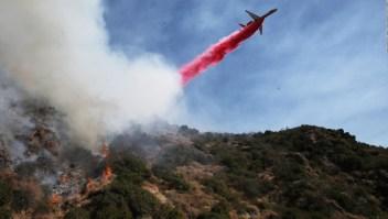 Lujosa zona de California afectada por un incendio forestal
