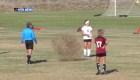 Por culpa de planta rodadora detienen partido de fútbol