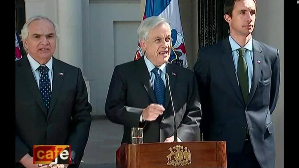 Piñera: Necesitamos recuperar el orden público y la paz