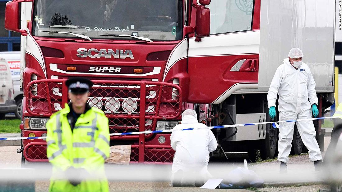 Camión con 39 cuerpos en Essex