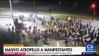 Chile: automóvil atropella a manifestantes