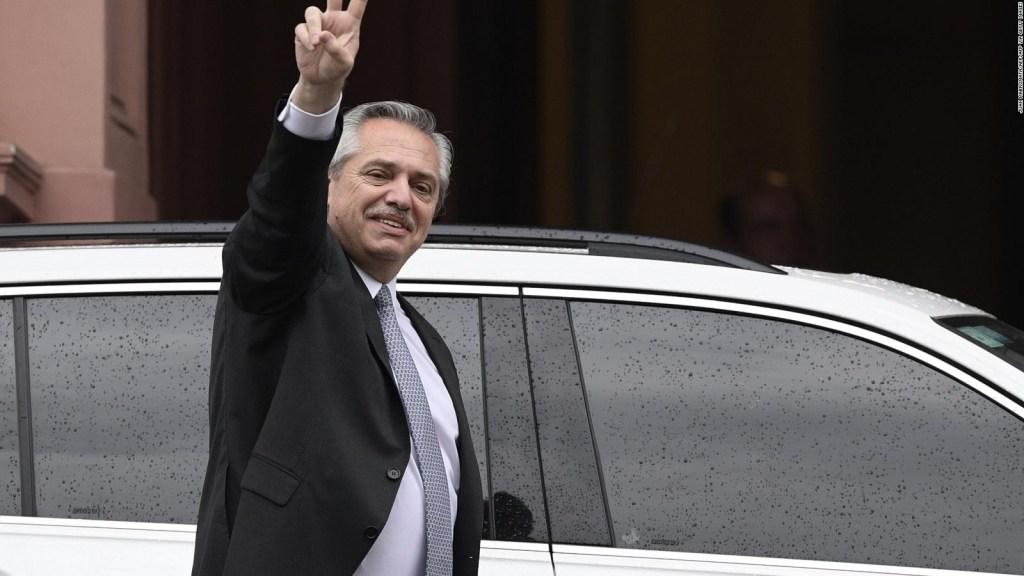 Alberto Fernández agradece el voto que lo eligió