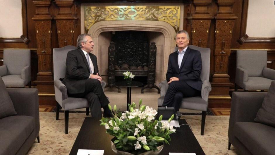La foto de Mauricio Macri y Alberto Fernández
