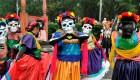 Colorida celebración del Día de los Muertos en México