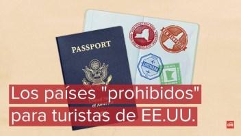 Países que imponen restricciones a turistas estadounidenses