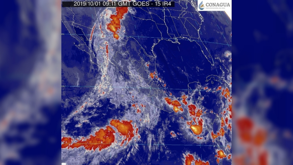 narda depresión tropical lluvia inundaciones