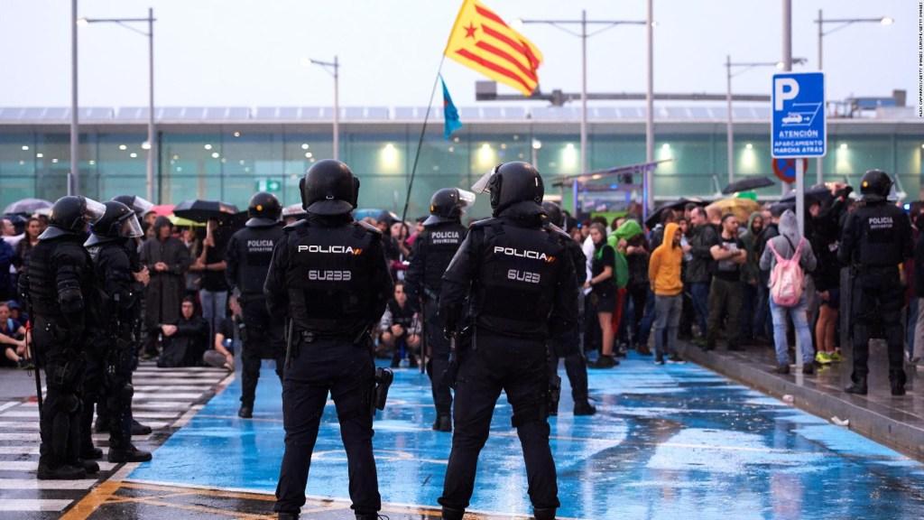 Protestas por presencia de los reyes de España en Cataluña