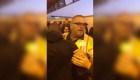 Salvó a un hombre a instantes de ser embestido por un tren