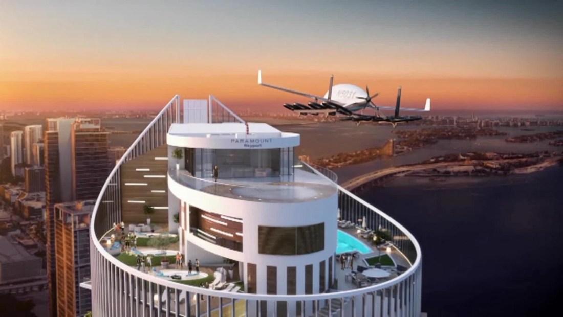 Torre Paramount inaugura pista para autos voladores