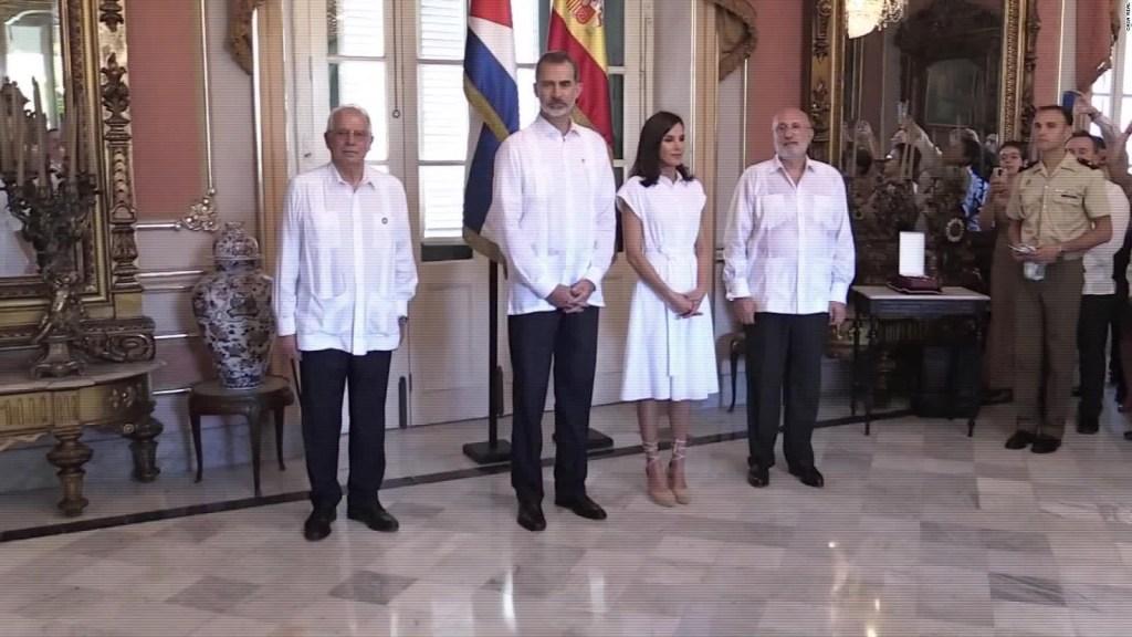 Los reyes de España visitan La Habana Vieja