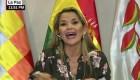 """Jeanine Áñez a Evo Morales: """"le exijo que deje la violencia"""""""