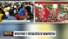 Ambos bandos se manifiestan en Venezuela