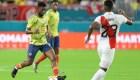 Las reacciones del partido de Colombia ante Perú