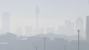Sydney cubierta por humo de incendios forestales