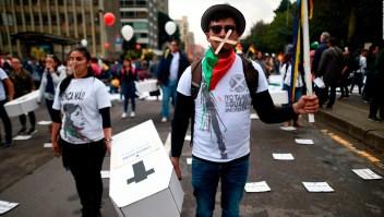 Manifestantes salen a las calles por paro nacional