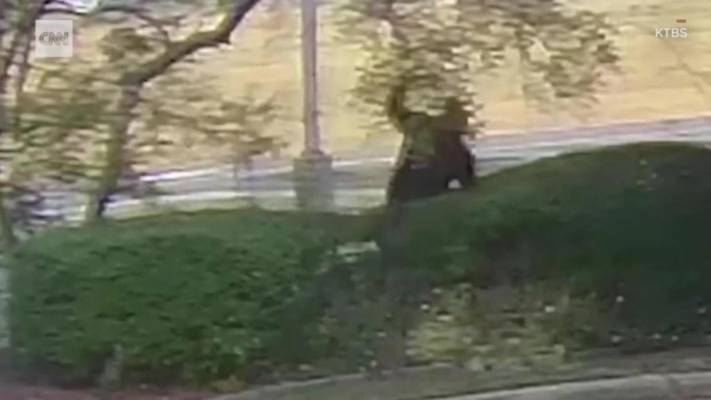Ladrón tropieza tres veces mientras huye tras robar un banco