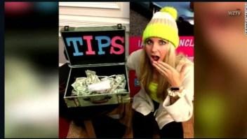 Una cantante recibió una propina de US$ 10.000