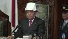 Casco antisismo en el Parlamento de Japón