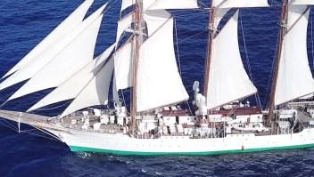 Buque escuela Elcano parte desde Cádiz, España, en viaje de instrucción