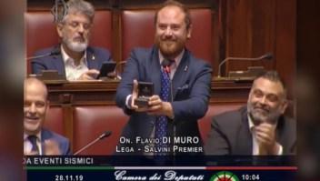 Propuesta de matrimonio en pleno Parlamento italiano