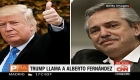 Trump llama a Fernández
