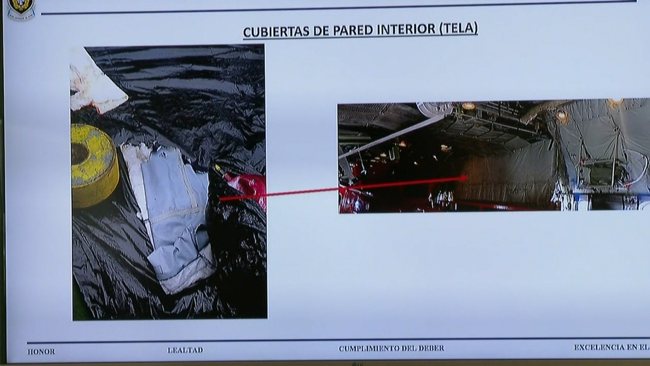 Restos hallados del avión siniestrado en Chile (CNN Chile / Fuerzas Armadas de Chile)