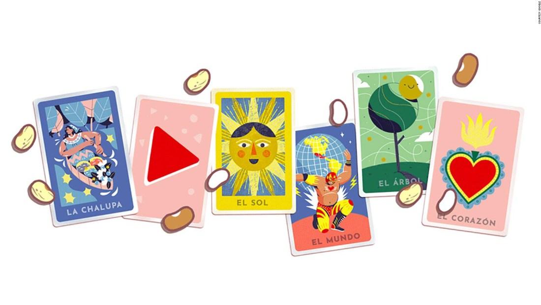 Un doodle en homenaje a la lotería mexicana