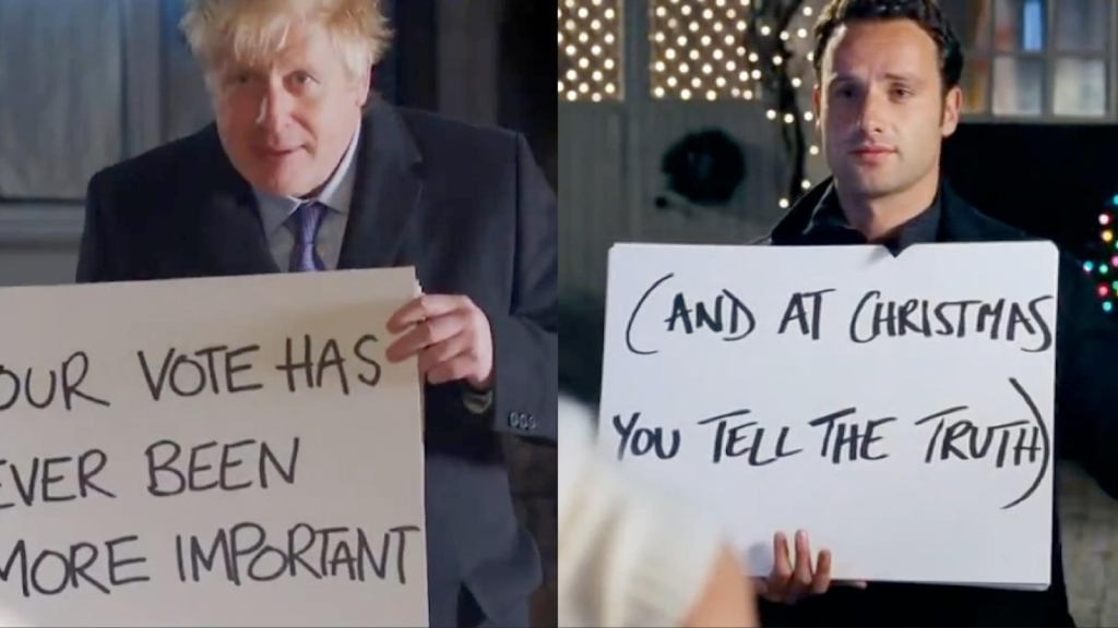 "Boris Johnson parodia ""Love Actually"" animando al brexit"