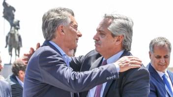 Macri y Fernández, juntos antes del cambio de Gobierno