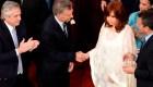 El saludo entre Macri y Cristina F. de Kirchner