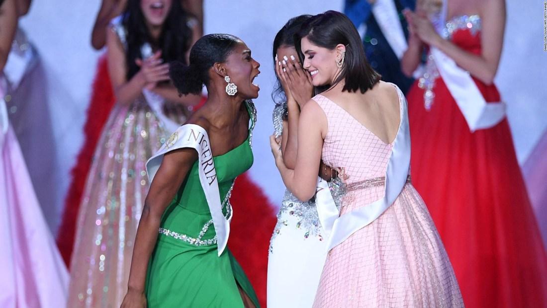 Así reaccionó Miss Nigeria ante ganadora de Miss Mundo