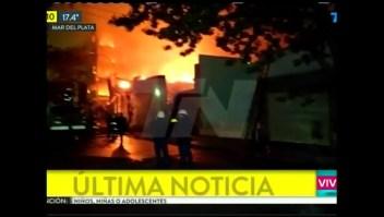 Feroz incendio en Mar del Plata