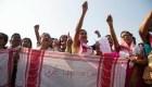 Musulmanes llevan seis días protestando en India