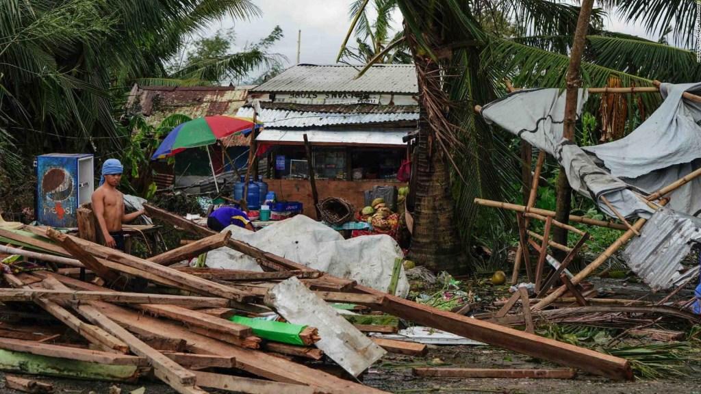 Al menos 16 muertos por tifón en Filipinas