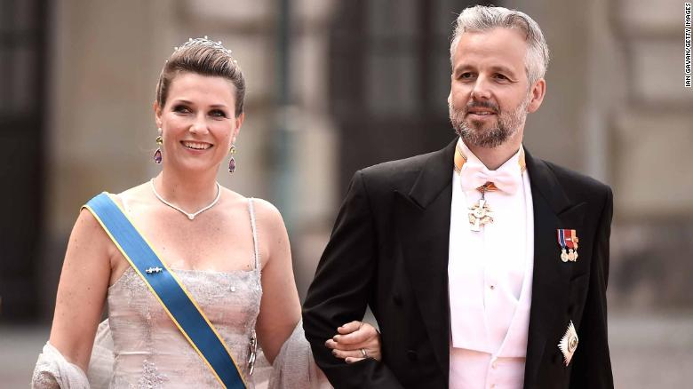 STOCKHOLM, SWEDEN - JUNE 13: Princess Maertha Louise of Norway and her husband Ari Behn attend the royal wedding of Prince Carl Philip of Sweden and Sofia Hellqvist at The Royal Palace on June 13, 2015 in Stockholm, Sweden. (Photo by Ian Gavan/Getty Images)