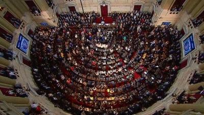 Solidaridad social en Argentina: debate clave en Diputados para Alberto Fernández. (Foto de Télam).
