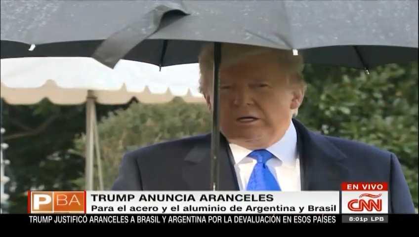 Donald Trump sobre aranceles a Argentina y Brasil