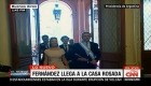 Así ingresó Alberto Fernández a Casa Rosada