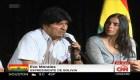 Conferencia de Evo Morales en Argentina