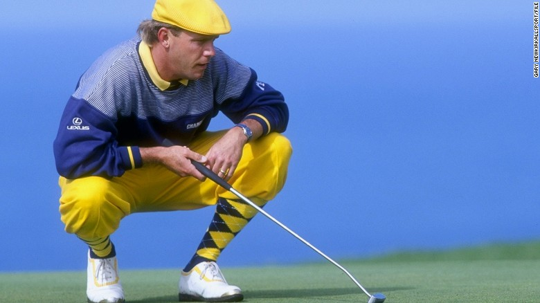 Payne Stewart was known for wearing old-fashioned knickers on the golf course.