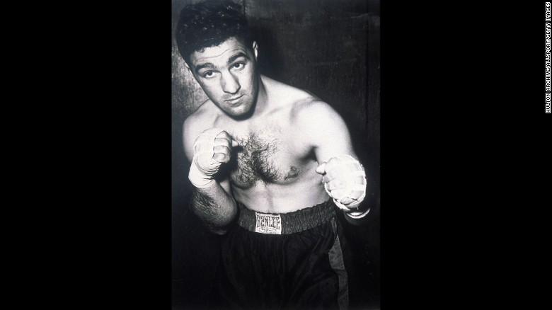 El boxeador Rocky Marciano