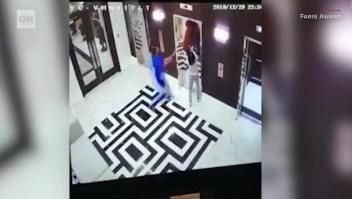 Salva a un perro de su correa atascada en un ascensor